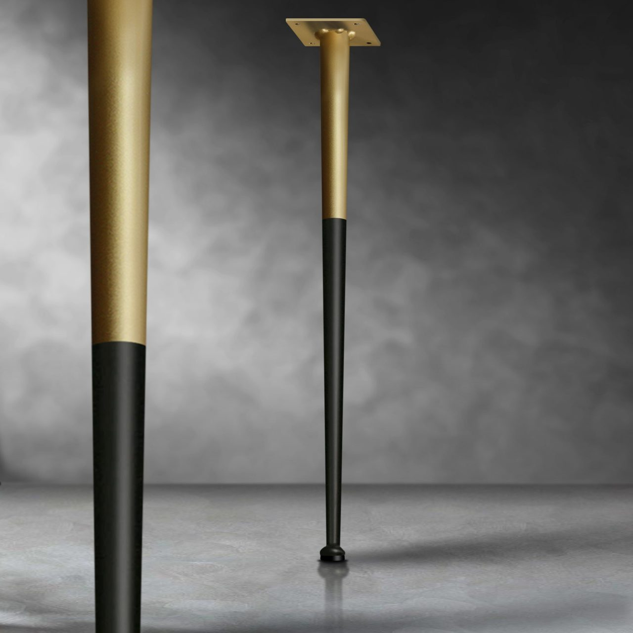 gold table legs